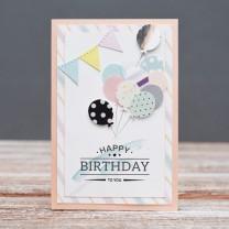 Открытка дизайнерская №2 С Днем Рождения