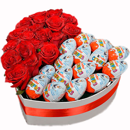 Розы с киндерами