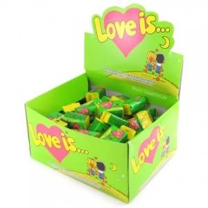 Жвачка оригинал Love is (блок) Яблоко Лимон