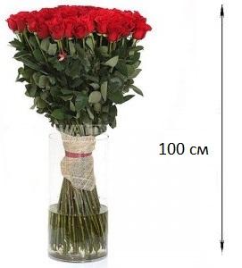Эквадорская роза 100 см  51 штука