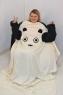 Плед с рукавами Панда