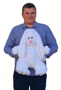 Заяц плюшевый белый