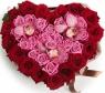 Сердце с розами и орхидеями