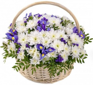 "Корзина с цветами ""Яркие дни"""