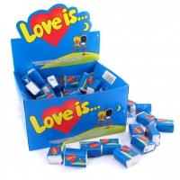 Жвачка оригинал Love is (блок) Банан Клубника
