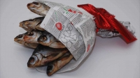 Букет из соленой рыбки №1